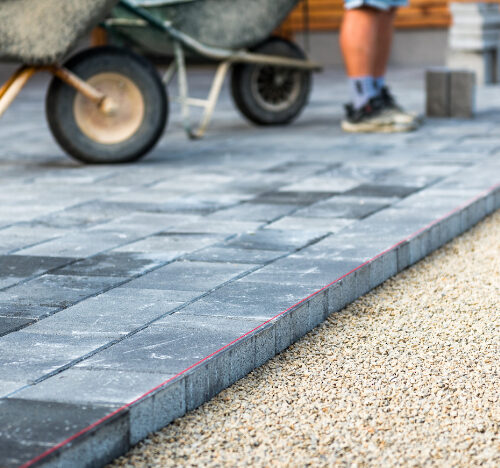 construction of new block paving driveway in stourport